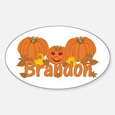 Halloween Pumpkin Brandon Decal