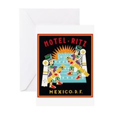 Hotel Ritz Greeting Card