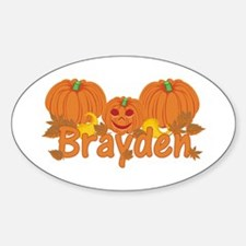 Halloween Pumpkin Brayden Decal