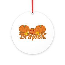 Halloween Pumpkin Brayden Ornament (Round)