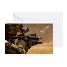 Colt M4 carbine Greeting Card