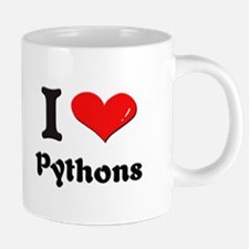 I love pythons Mugs