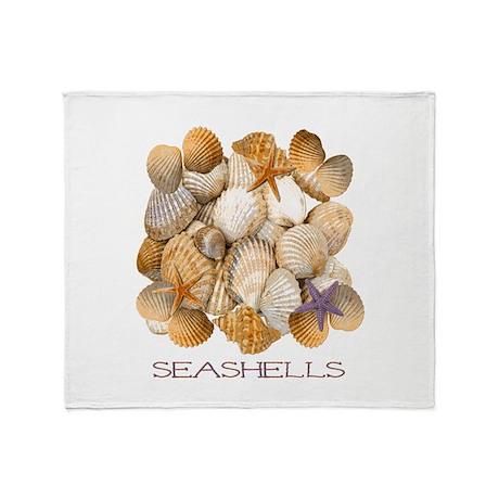 Seashells 2 Throw Blanket