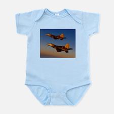 Two F/A-22 Raptors. Infant Bodysuit