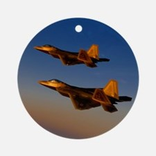 Two F/A-22 Raptors. Ornament (Round)