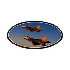 Two F/A-22 Raptors. Patches