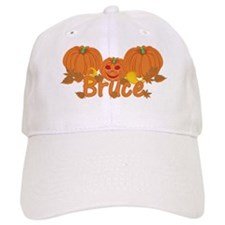 Halloween Pumpkin Bruce Baseball Cap