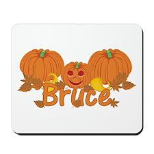 Halloween Pumpkin Bruce Mousepad