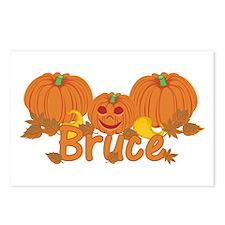 Halloween Pumpkin Bruce Postcards (Package of 8)