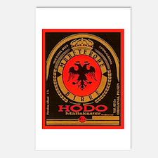 Albania Beer Label 4 Postcards (Package of 8)