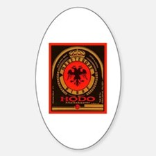 Albania Beer Label 4 Sticker (Oval)
