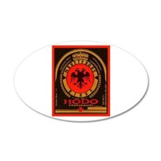 Albania Beer Label 4 22x14 Oval Wall Peel