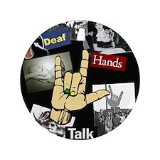 "DEAF TALKIES copy.jpg 3.5"" Button (100 pack)"