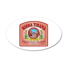 Albania Beer Label 3 22x14 Oval Wall Peel