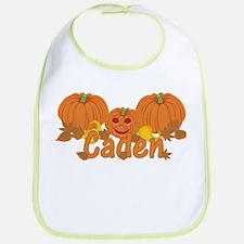 Halloween Pumpkin Caden Bib