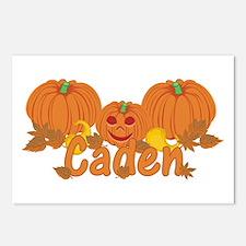 Halloween Pumpkin Caden Postcards (Package of 8)