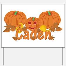 Halloween Pumpkin Caden Yard Sign