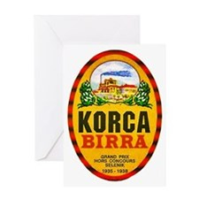 Albania Beer Label 1 Greeting Card