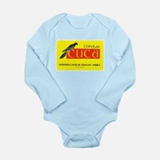 Angola Beer Label 1 Long Sleeve Infant Bodysuit