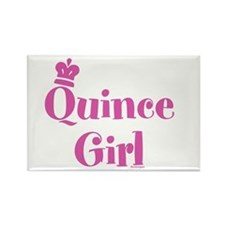 Quince Girl Rectangle Magnet