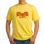 Halloween Pumpkin Carl Yellow T-Shirt