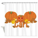 Halloween Pumpkin Carl Shower Curtain