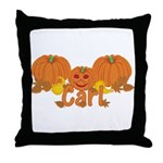 Halloween Pumpkin Carl Throw Pillow