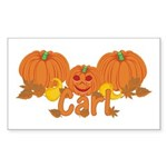 Halloween Pumpkin Carl Sticker (Rectangle)