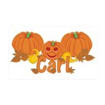 Halloween Pumpkin Carl 35x21 Wall Decal