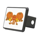 Halloween Pumpkin Carl Rectangular Hitch Cover