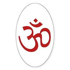 Aum / Om Symbol Oval Decal