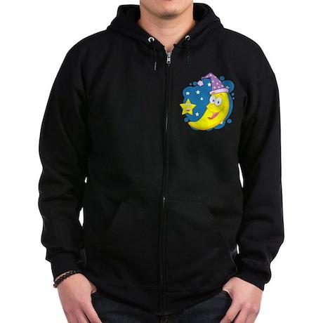 Moon Zip Hoodie (dark)