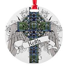 Keith Tartan Cross Ornament
