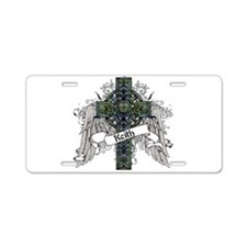 Keith Tartan Cross Aluminum License Plate