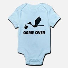 Funny birth game over Infant Bodysuit