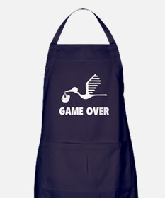 Funny birth game over Apron (dark)