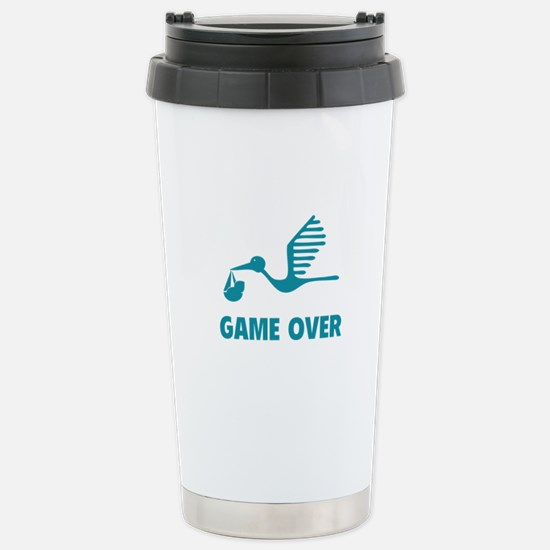 Funny birth game over Stainless Steel Travel Mug