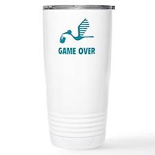 Funny birth game over Travel Coffee Mug