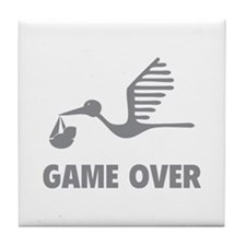 Funny birth game over Tile Coaster
