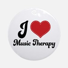 I Heart Music Therapy Ornament (Round)
