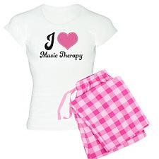 I Heart Music Therapy Women's Light Pajamas