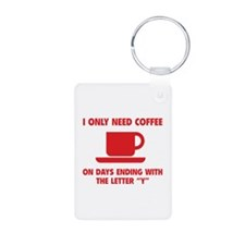 Coffee Aluminum Photo Keychain