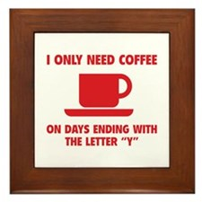 Coffee Framed Tile