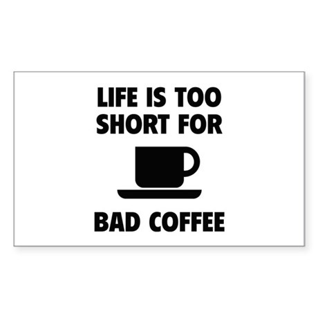 Coffee Sticker (Rectangle)
