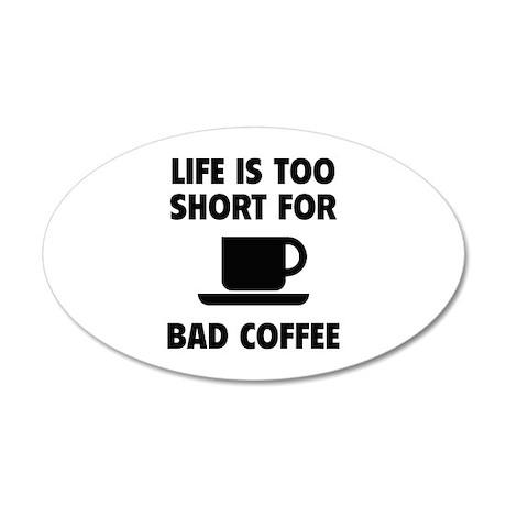 Coffee 22x14 Oval Wall Peel