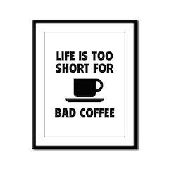 Coffee Framed Panel Print