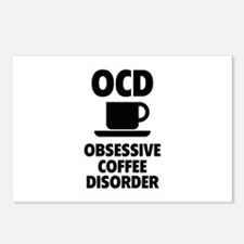 OCD Obsessive Coffee Disorder Postcards (Package o