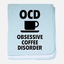 OCD Obsessive Coffee Disorder baby blanket