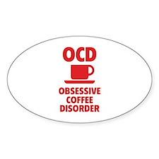 OCD Obsessive Coffee Disorder Decal
