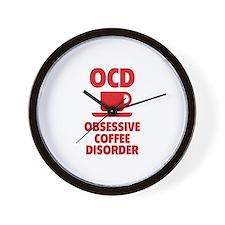 OCD Obsessive Coffee Disorder Wall Clock